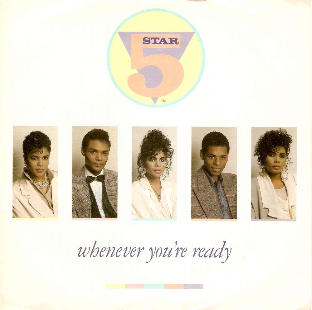 FIVE STAR (5 STAR) Whenever You're Ready Vinyl Record 7 Inch Tent 1987